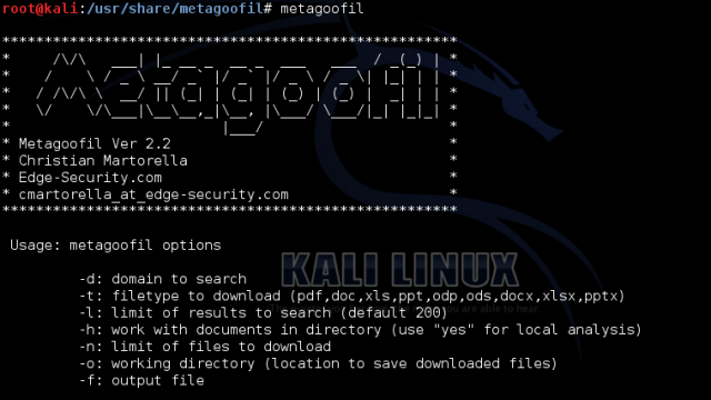 Metagoofil Download - Metadata & Information Gathering Tool
