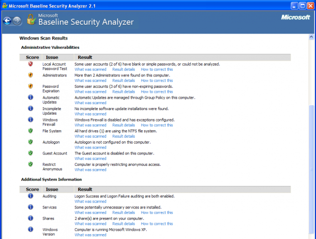 MBSA Download - Microsoft Baseline Security Analyzer