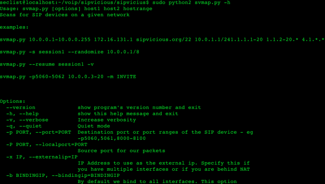 SIPVicious SIP Scanner - VoIP Hacking Security Auditing Tool
