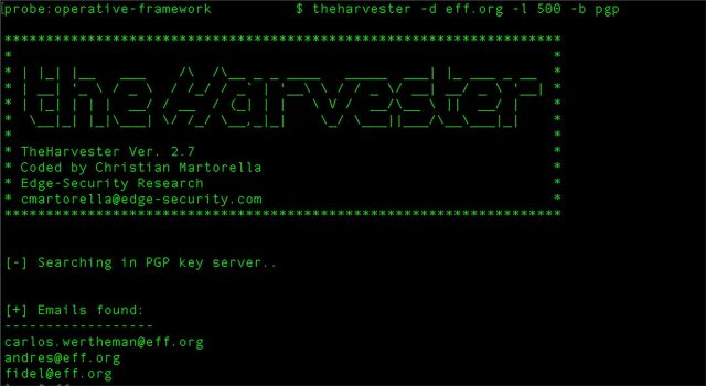 theHarvester - Gather E-mail Accounts, Subdomains, Hosts, Employee Names