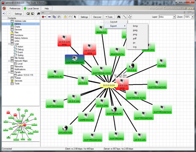 The Dude Network Software - Automatic Network Mapper