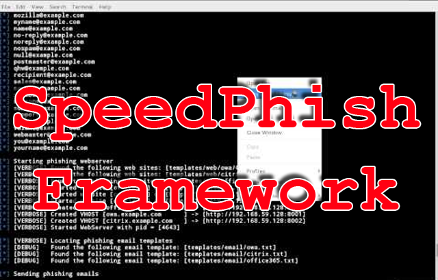 SPF (SpeedPhish Framework) - E-mail Phishing Toolkit
