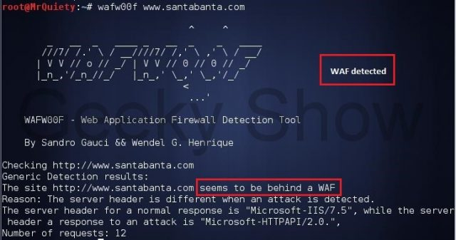 WAFW00F - Fingerprint & Identify Web Application Firewall (WAF) Products