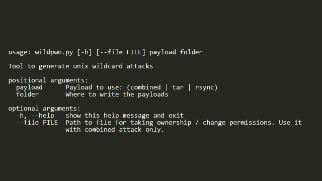 wildpwn - UNIX Wildcard Attack Tool