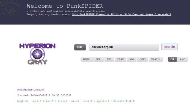 PunkSPIDER -  A Web Vulnerability Search Engine
