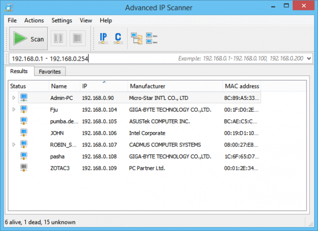 Advanced IP Scanner - Fast Lightweight Free Windows Port Scanner