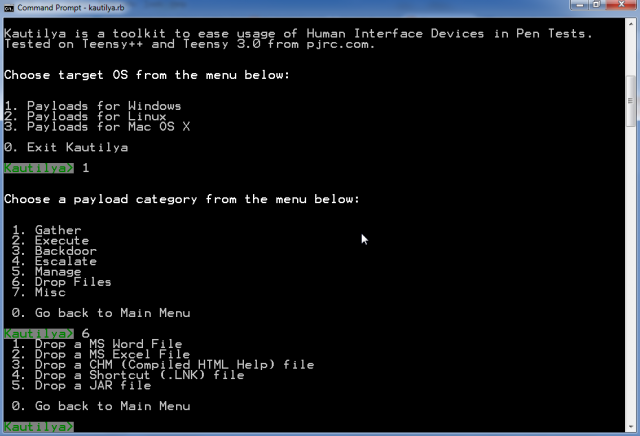 Kautilya – Human Interface Device Hacking Toolkit