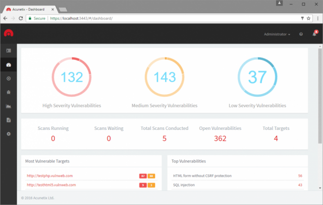 Acunetix Web Vulnerability Scanner v11 Released