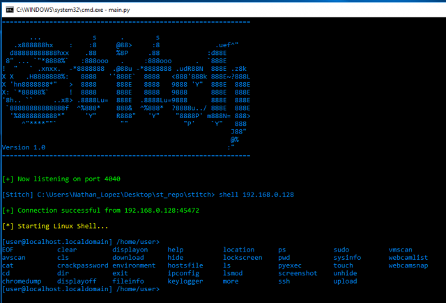 Stitch – Python Remote Administration Tool AKA RAT - Darknet