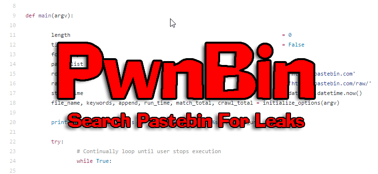 PwnBin – Python Pastebin Search Tool - Darknet
