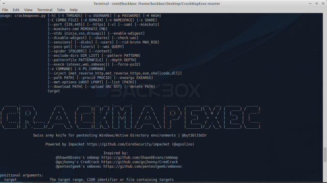 CrackMapExec - Post-Exploitation Tool