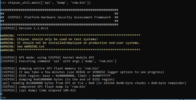 CHIPSEC – Platform Security Assessment Framework For Firmware Hacking