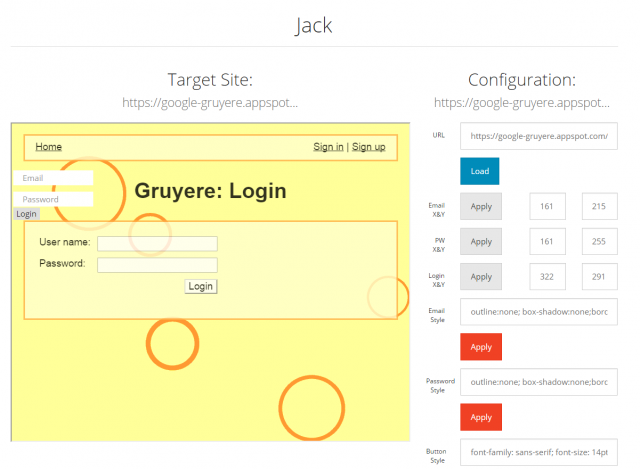 Jack - Drag & Drop Clickjacking Tool