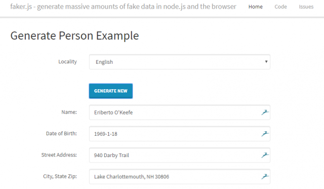 faker.js - Tool To Generate Fake Data