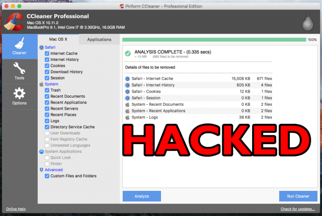 CCleaner Hack – Spreading Malware To Specific Tech Companies