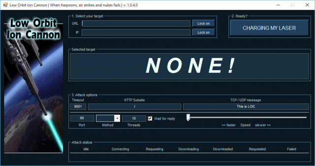 LOIC Download – Low Orbit Ion Cannon DDoS Booter