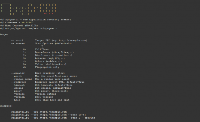 Spaghetti Download – Web Application Security Scanner