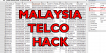 Malaysia Telco Hack - Corporations Spill 46 Million Records