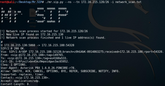 Mr.SIP – SIP Attack And Audit Tool