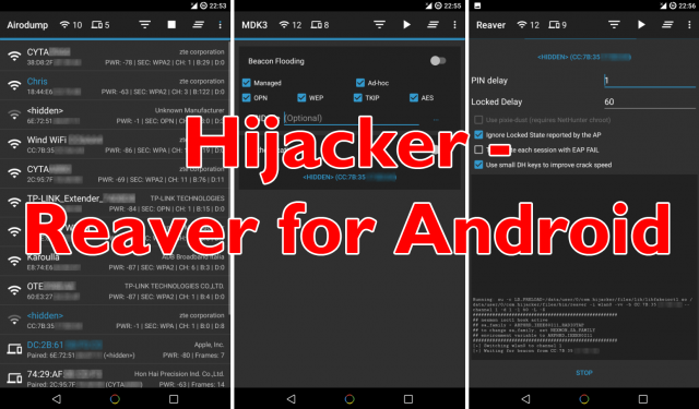 Hijacker – Reaver For Android Wifi Hacker App