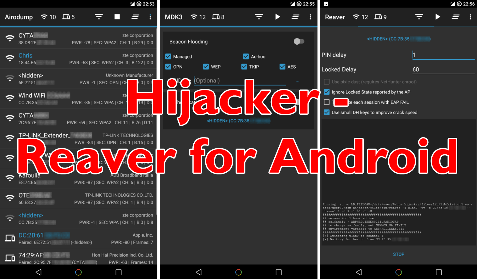 Hijacker – Reaver For Android Wifi Hacker App - Darknet