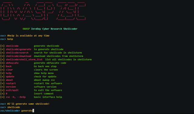 OWASP ZSC - Obfuscated Code Generator Tool
