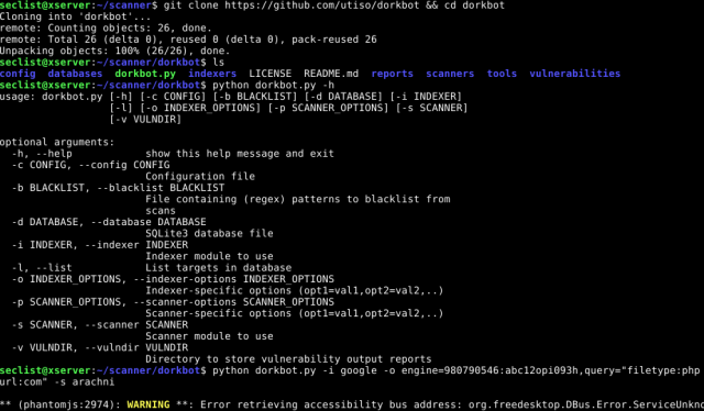 dorkbot – Command-Line Tool For Google Dorking