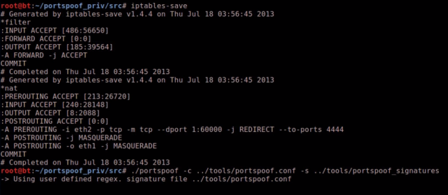 Portspoof – Spoof All Ports Open & Emulate Valid Services