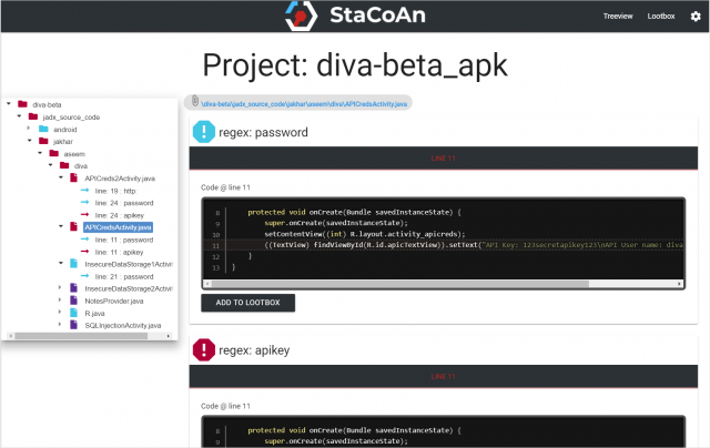 StaCoAn - Mobile App Static Analysis Tool