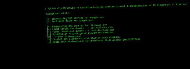 CloudFrunt – Identify Misconfigured CloudFront Domains
