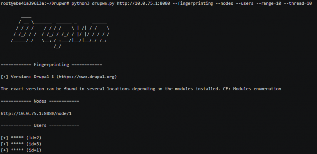 Drupwn - Drupal Enumeration Tool & Security Scanner