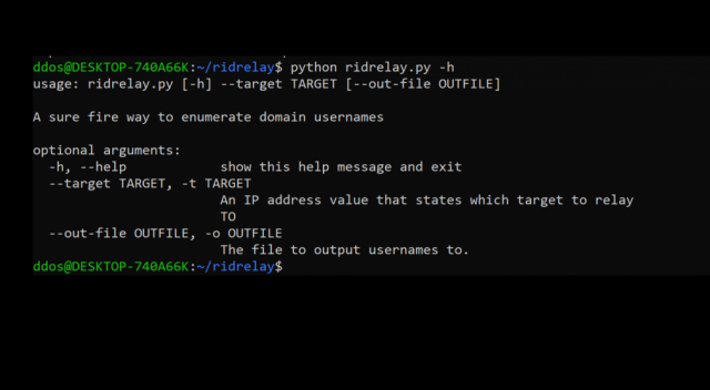 RidRelay – SMB Relay Attack For Username Enumeration