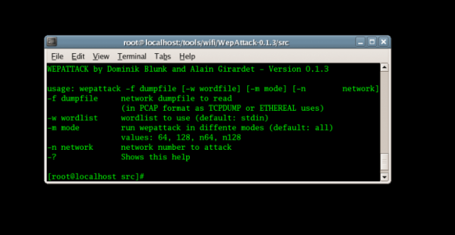 WepAttack - WLAN 802.11 WEP Key Hacking Tool