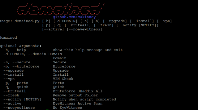 Domained - Multi Tool Subdomain Enumeration