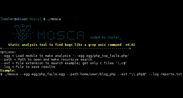 Mosca - Manual Static Analysis Tool To Find Bugs