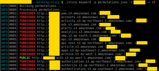 Slurp - Amazon AWS S3 Bucket Enumerator
