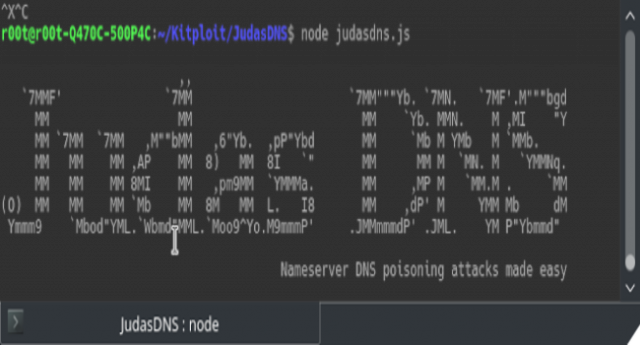Judas DNS – Nameserver DNS Poisoning Attack Tool