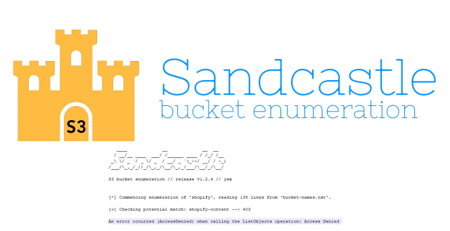 Sandcastle – AWS S3 Bucket Enumeration Tool